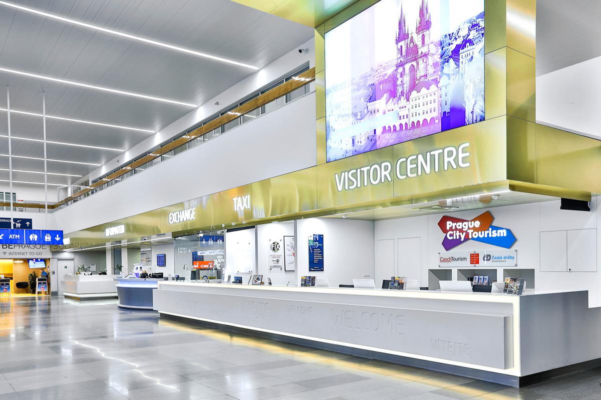 Информационные центры в аэропорту Праги