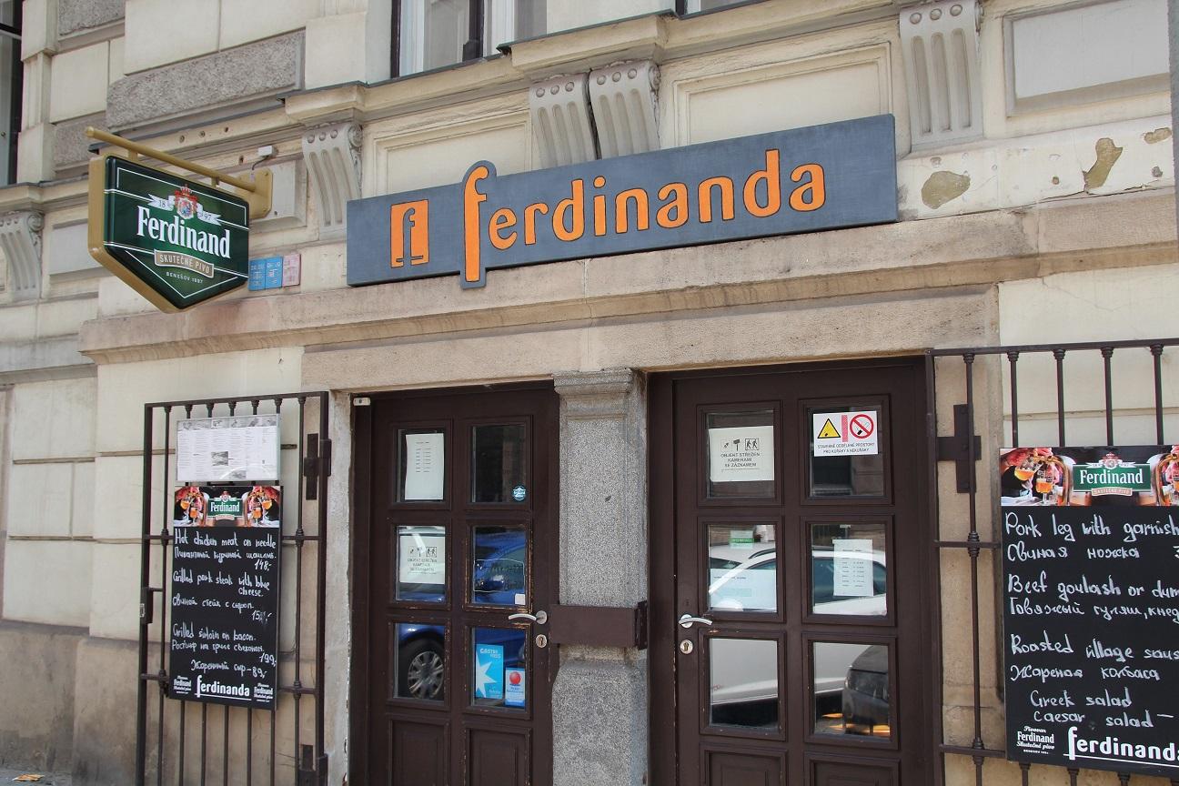 Ресторан Ferdinanda в Праге