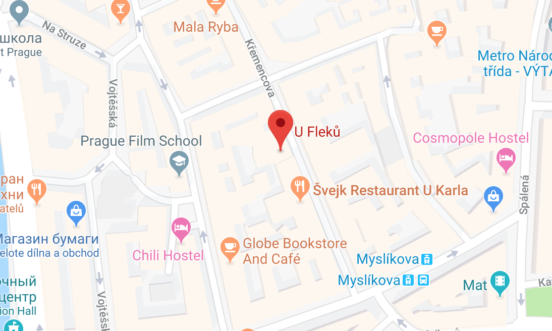 РесторанУ Флеку на карте