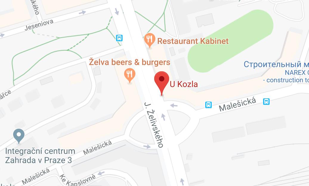 Пивной бар «У Козла» (U Kozla) на карте