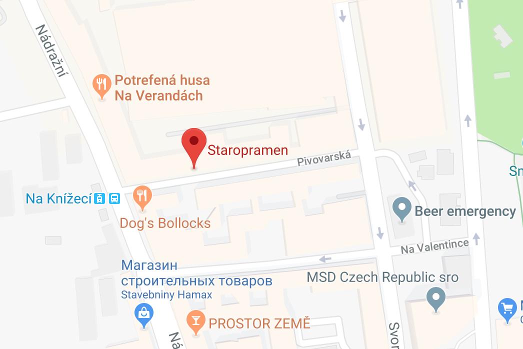 Бар завода Staropramen на карте