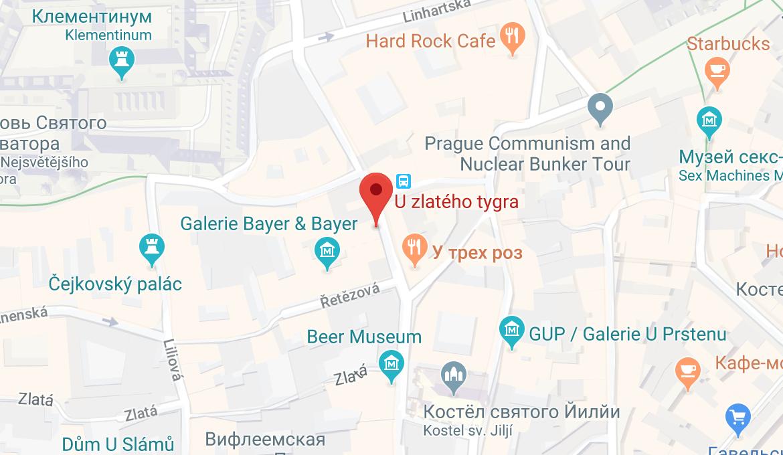 Ресторан «У золотого тигра» на карте