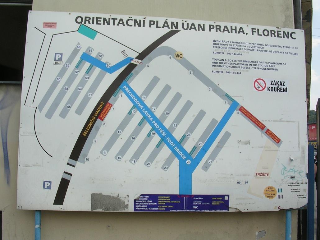 План автовокзала Флоренц