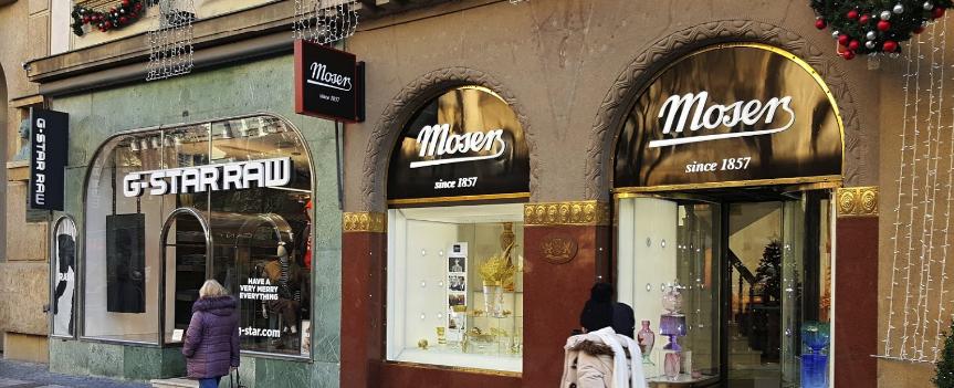 Магазин чешского фарфора Moser