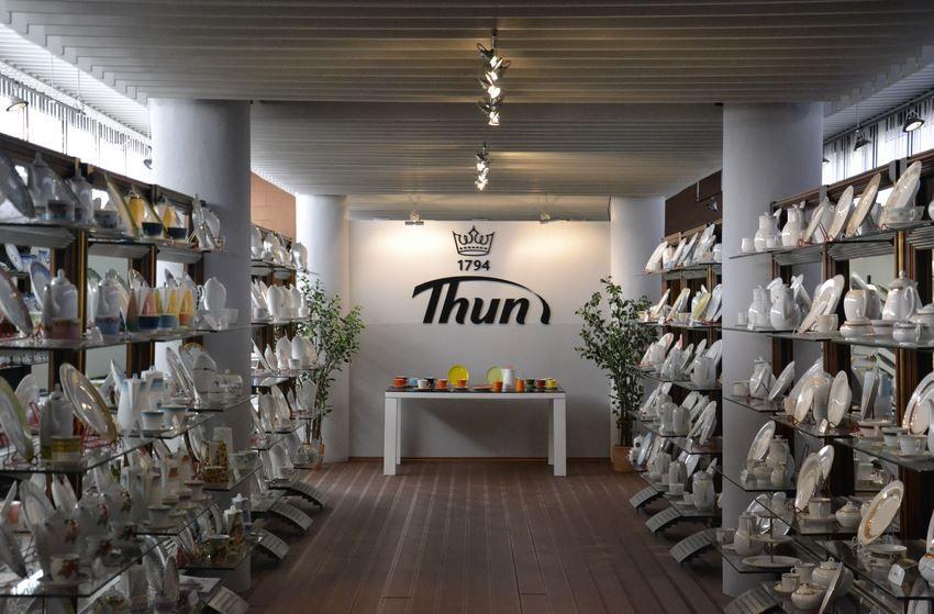 Магазин завода Thun в Праге