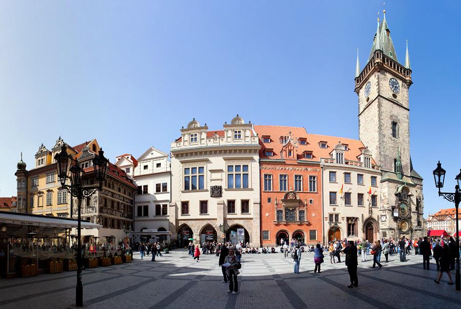 Фото в Старом городе Праги