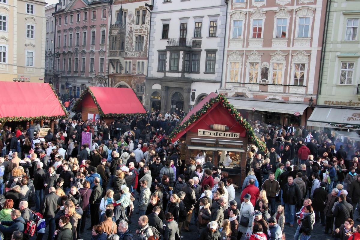 Рождественский рынок на Староместской площади