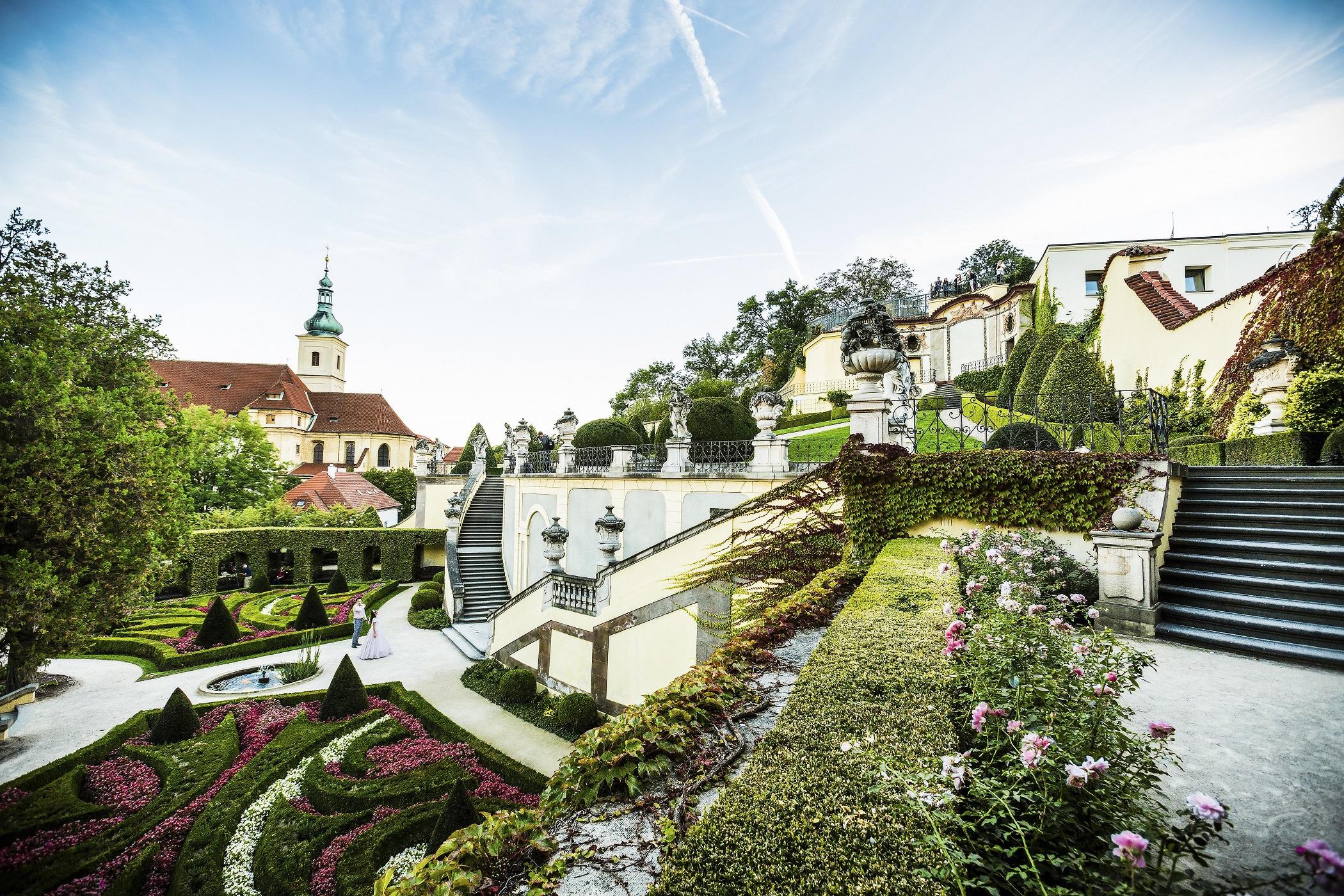 Вртбовский сад в Праге для фотосессии