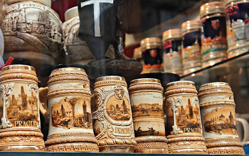 Пивные бокалы из Праги на подарок