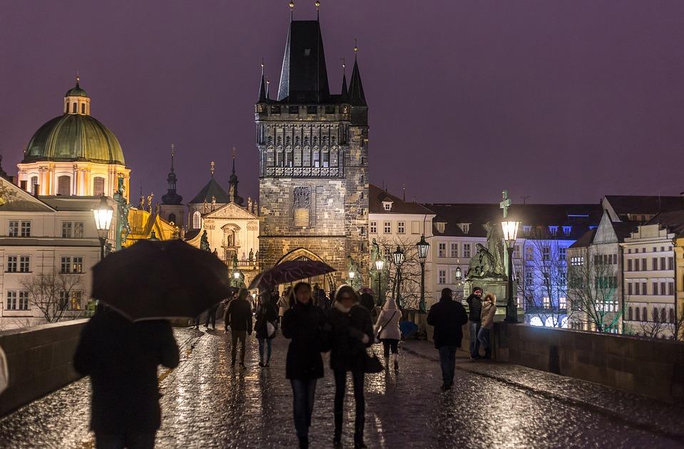 Дождь в Праге