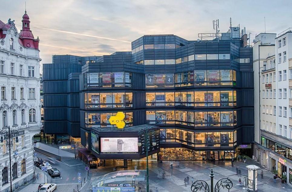 Торговый центр Котва (Kotva) в Праге
