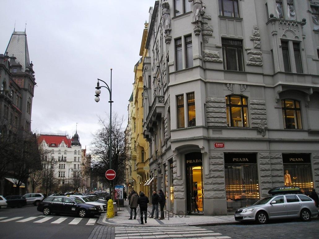Элитная торговая улица Pařížská ulice (Парижская улица)