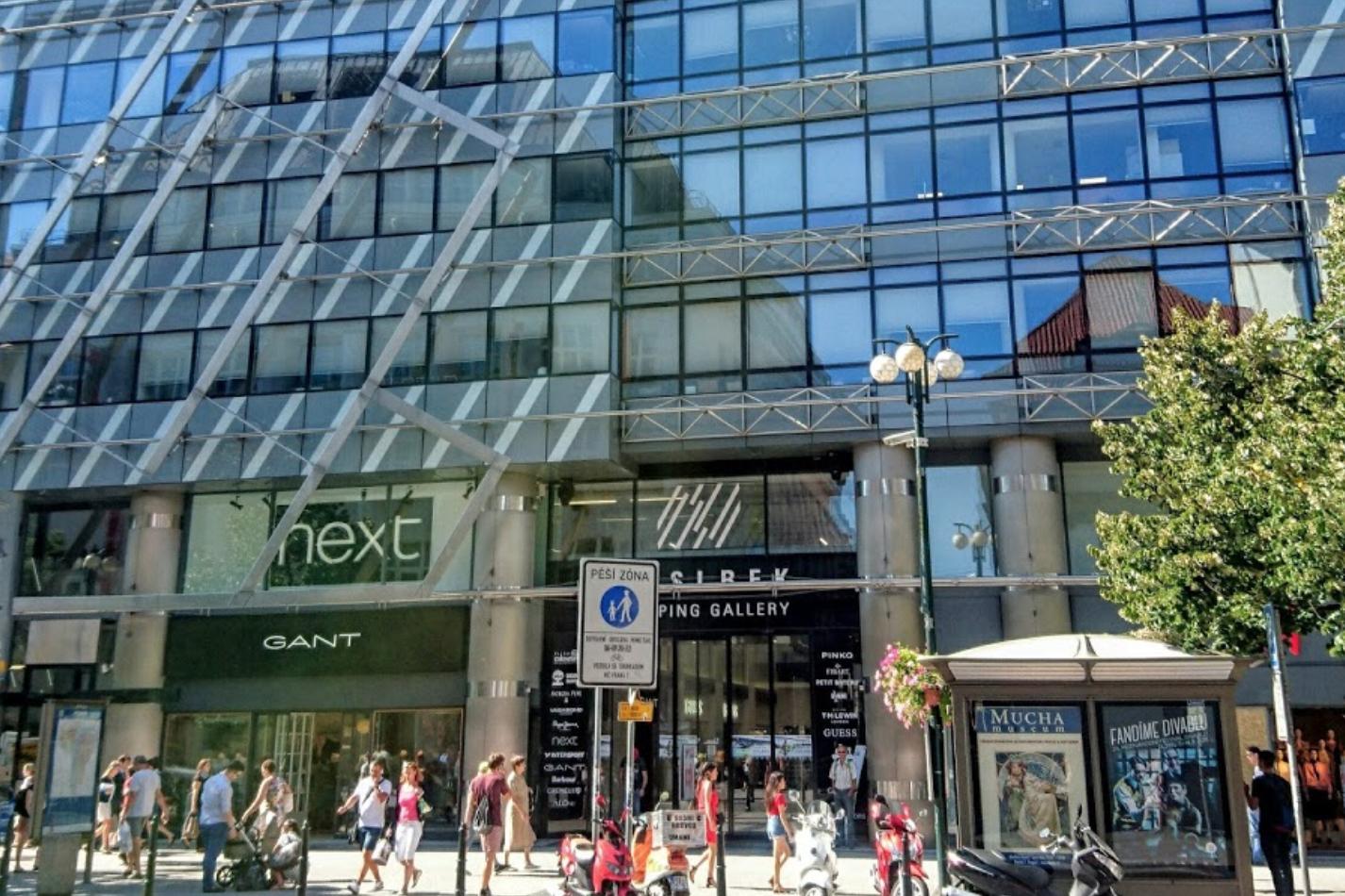 Торговый центр Nákupní galerie Myslbek (Мыслбек) в Праге